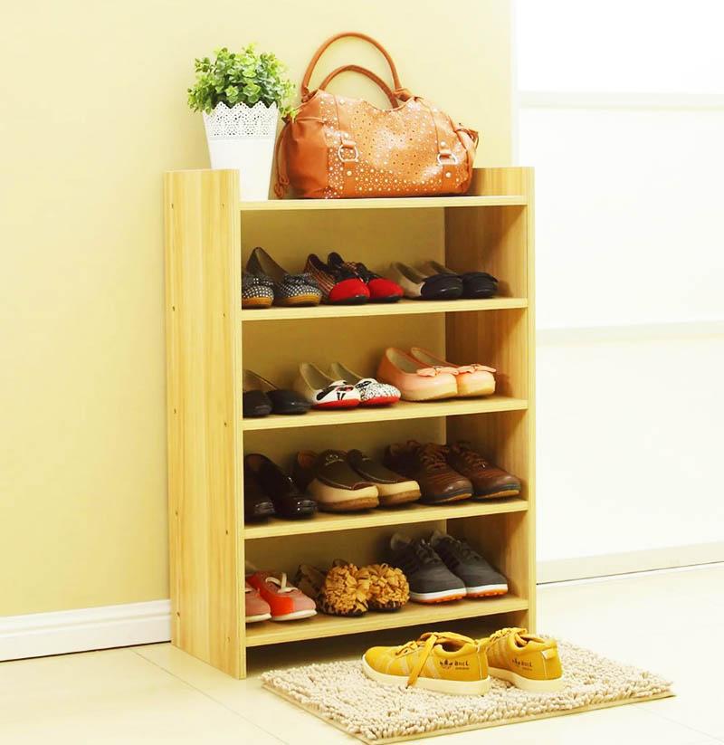 Простая деревянная обувница