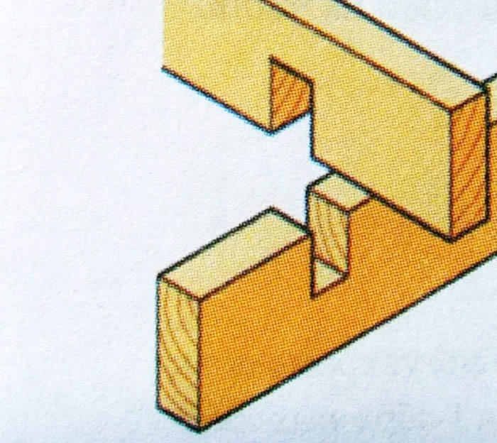 Один из простых видов соединения двух заготовок под прямым углом