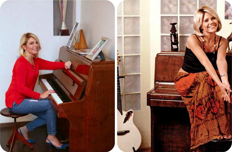 В гостиной стоит классическое фортепиано, на котором Анастасия иногда музицирует для друзей