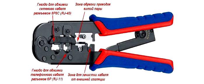 Клещи для обжимки кабелей