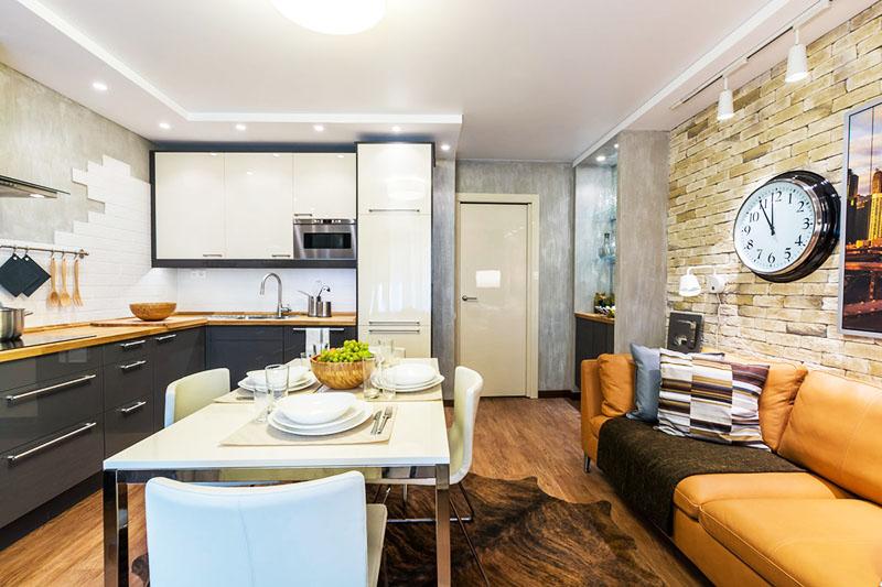 Кухня, совмещённая с гостиной