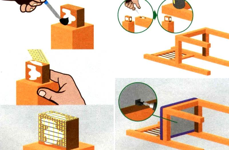 Пошаговая инструкция проклейки элементов