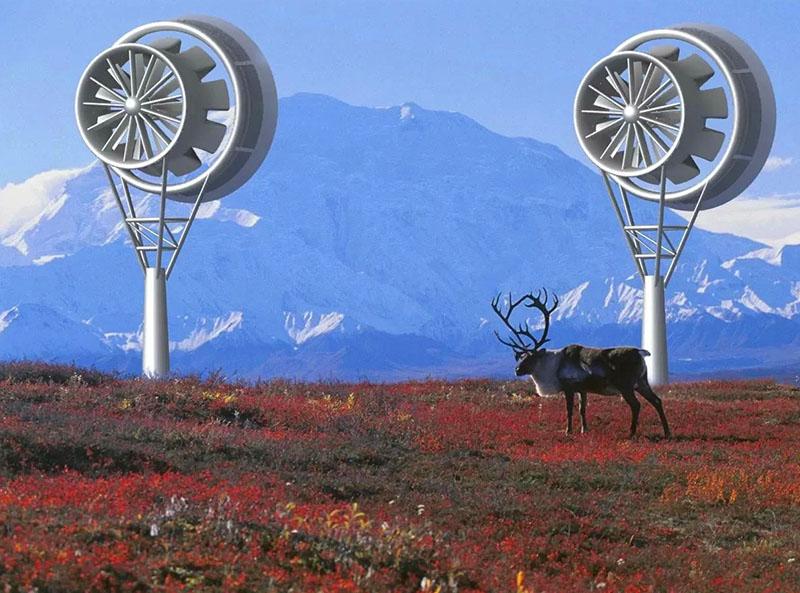 Вариант реализации ветряного двигателя горизонтального типа