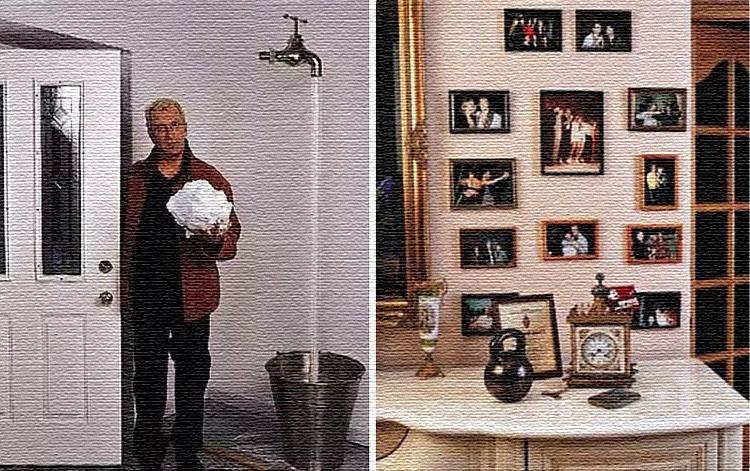 Стены дома украшают картины и фотографии близких людей семьи, а также друзей и знаменитостей