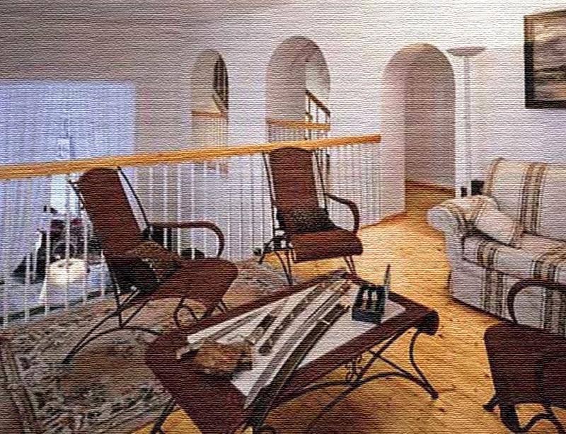 Уютная зона отдыха на втором этаже