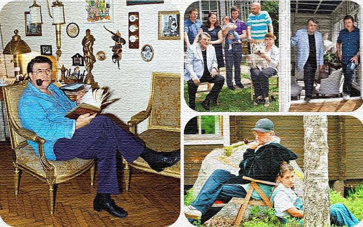 Кабинет Александра Ширвиндта украшают памятные награды и семейные фото в элегантных рамках