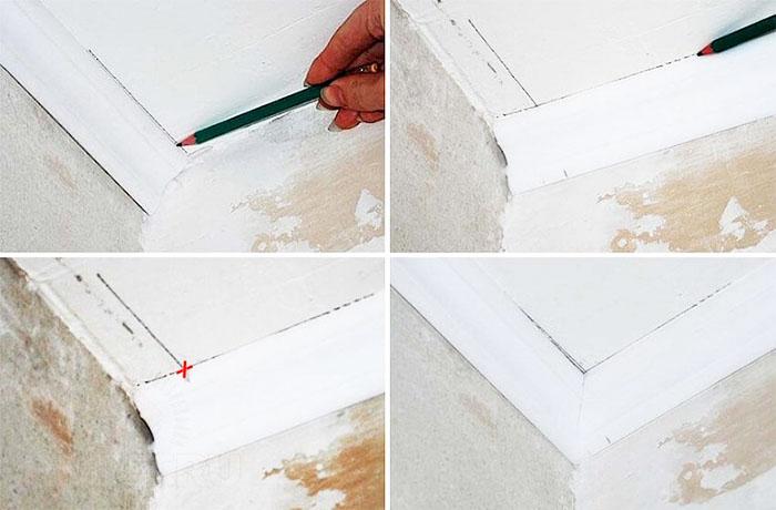 Этапы разметки при работе с карандашом и линейкой
