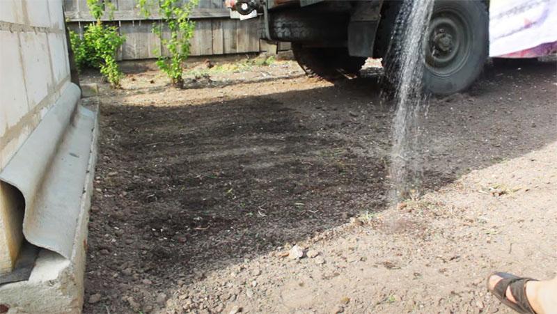 Теперь необходим обильный полив. Причём это нужно делать периодически, по мере высыхания почвы