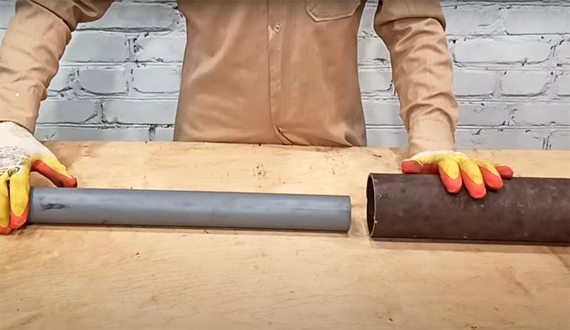 Как соединить две трубы очень разного диаметра