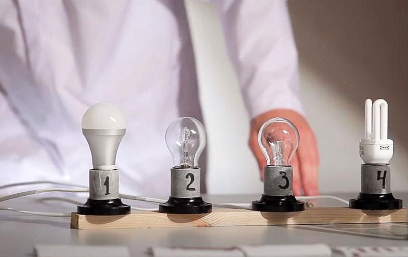 Типы современных ламп