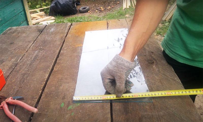 Внутренний размер рамы и размеры стекла будут соответствовать, так что поработайте рулеткой