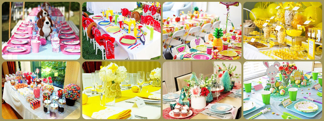 Сервировка стола на день рождения – идеи