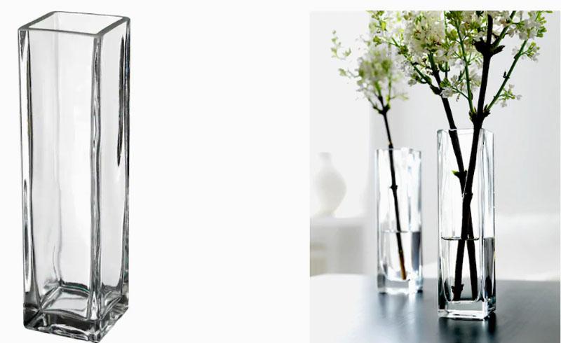 Прозрачная ваза подойдёт для любого интерьера