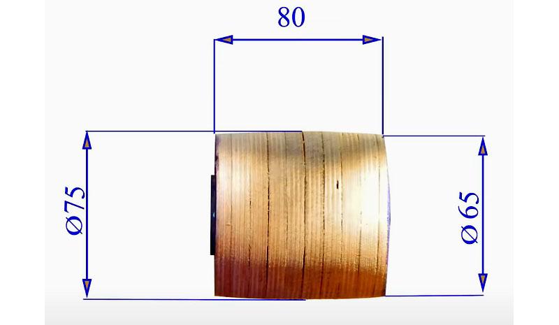Размеры и форма готового ведущего ролика