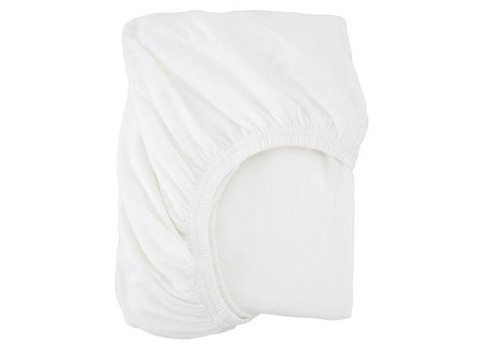Простыня полутораспальная, 140×200 см, трикотаж, цвет белый