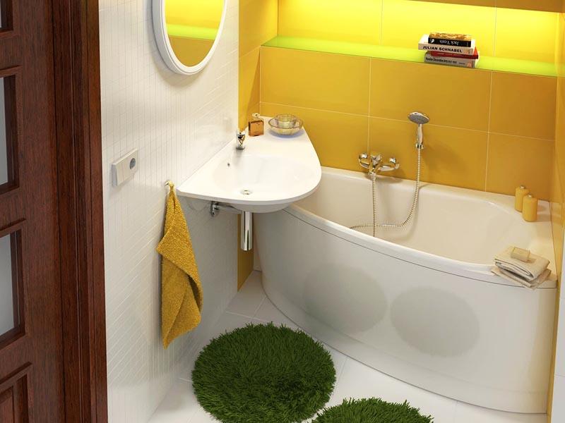 Плавные изгибы и отсутствие углов очень поможет увеличить полезное пространство в помещении
