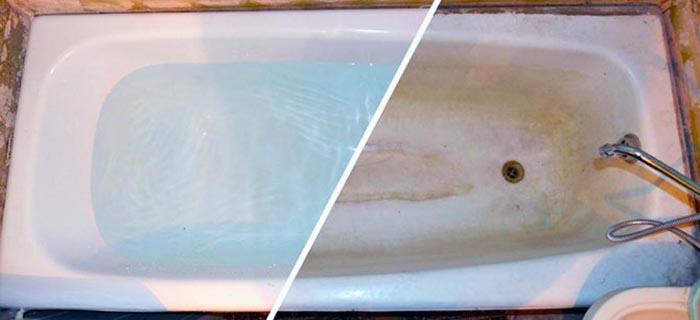 Ванна, протёртая «Доместосом»