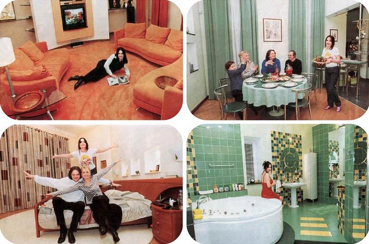 Каждая комната в квартире оформлена в разной цветовой гамме