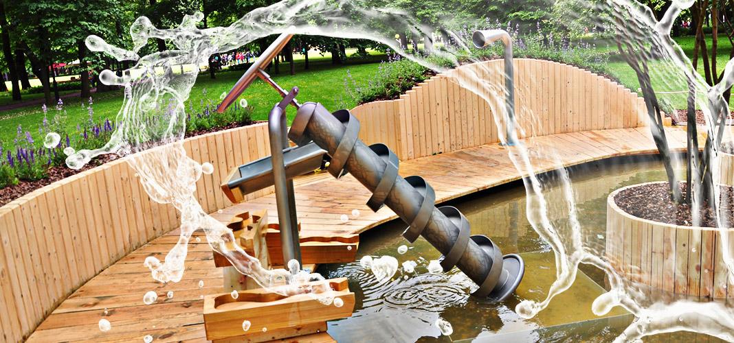 Винт Архимеда для подъёма воды