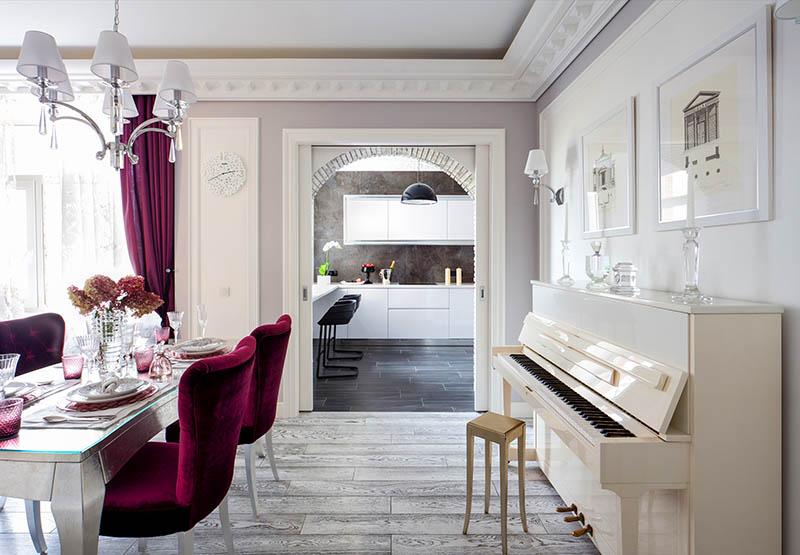 Оцениваем, как Ирина Салтыкова оформила интерьер огромного особняка и столичных апартаментов