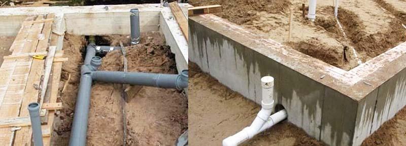 Разветвления канализационного трубопровода и ревизионный отвод