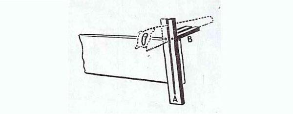 Приспособление для распиловки досок под прямым углом
