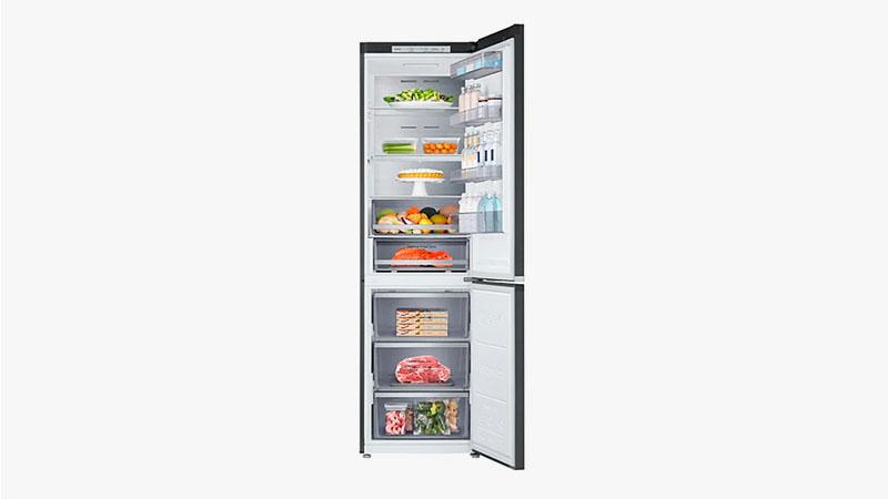 Двухкамерный узкий высокий холодильник