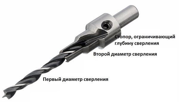 Сверло с двумя диаметрами сверления