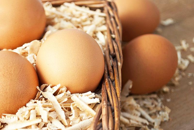 В песке или опилках, печной золе хорошо хранятся и яйца