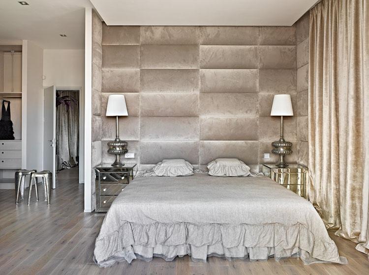 Мягкие стеновые панели дизайнер заказывала в Италии