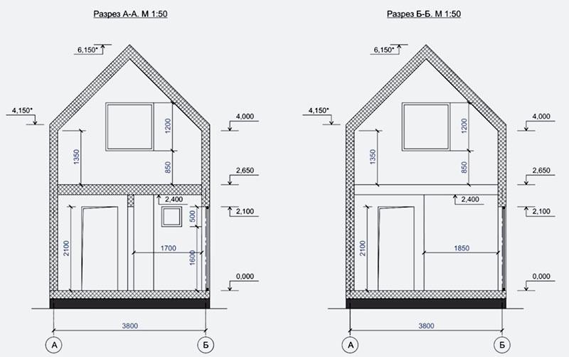 Габариты дома: ширина – 3.8 м, длина – 9.4. Это довольно узкое строение, но как доказал дизайнер, на такой площади не составит труда разместить всё необходимое
