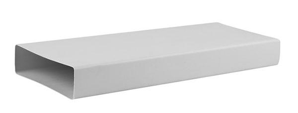 Лёгкие каналы из пластика очень просты в монтаже, в продаже есть все необходимые переходники