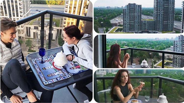 В хорошую погоду Евгения любит просто посидеть на балконе в компании близких друзей и полюбоваться на город с высоты птичьего полёта
