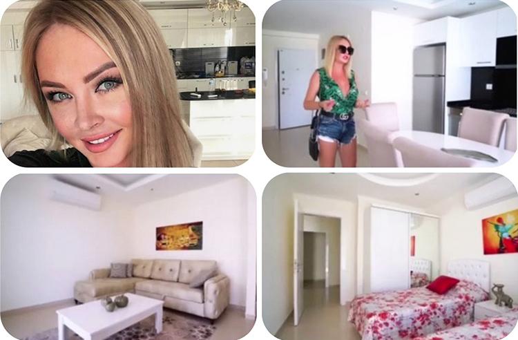 Интерьер апартаментов выполнен в белоснежной гамме в стиле минимализм