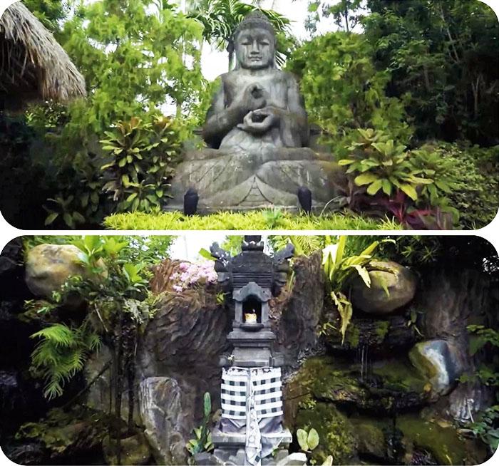 Статуя Будды и место преклонения построены по всем религиозным традициям