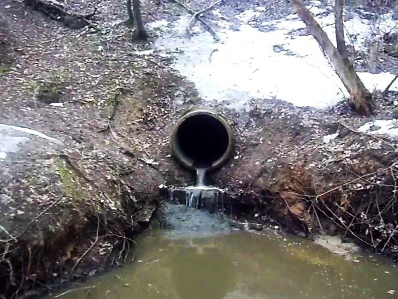 Отвод воды из дренажной системы