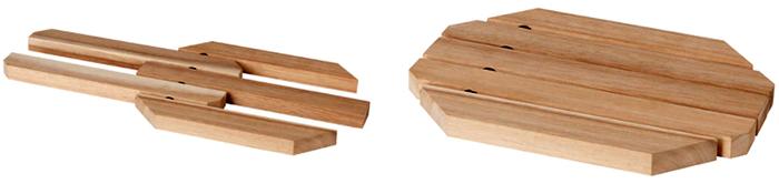 Раздвижная подставка подходит для кухонной посуды диаметром или длиной 21-34 см
