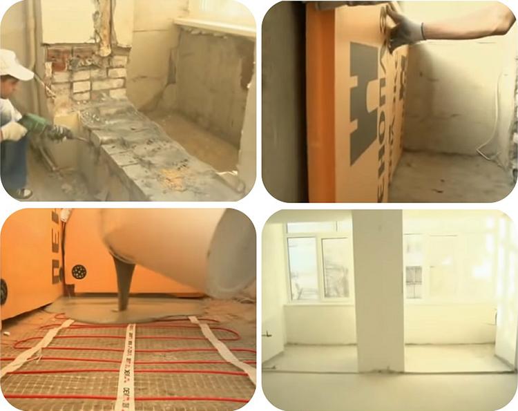 После демонтажа оконных блоков получилась просторная комната с двумя выходами на лоджию
