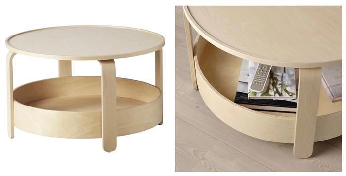 Компактный и лёгкий столик можно в любой момент передвинуть