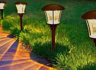 Варианты простого и необычного освещения в саду