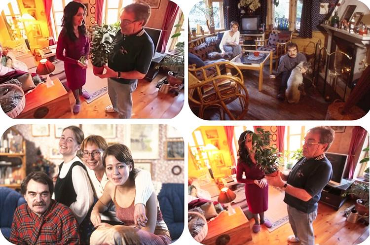 Благодаря обилию комнатных цветов на подоконниках и полу гостиная стала похожа на зимнюю оранжерею