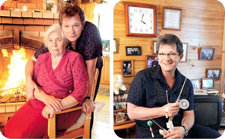 Рабочий уголок Андрея Ильина украшают семейные фото в лаконичных деревянных рамках