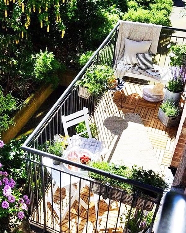 Идеи для обустройства открытого балкона