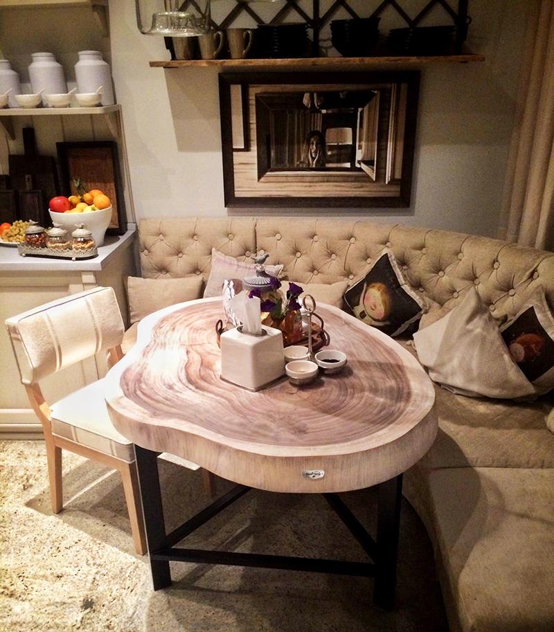 Дизайнерский стол из спила дерева – фишка интерьера